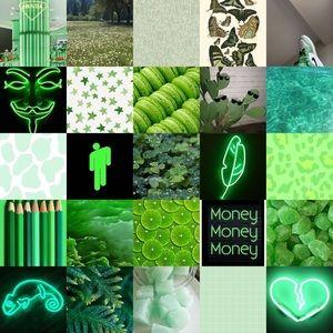 Green photo wall kit.